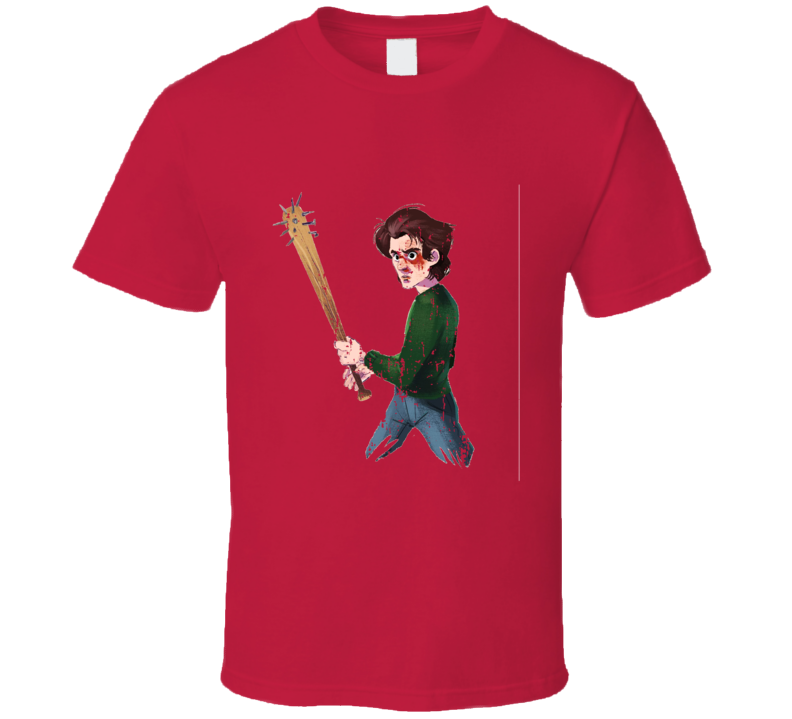 Stranger Things Tv Show Steve Character X-mas Gift Worn Look T Shirt
