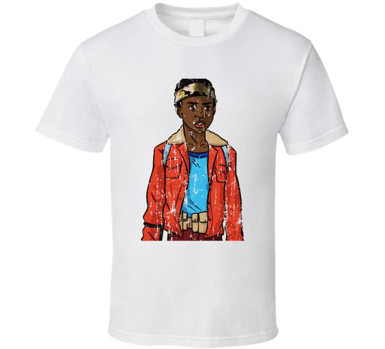 Stranger Things Tv Show Lucas Character Trending Worn Look T Shirt