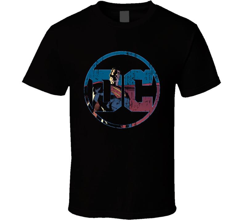 Dc Comic Superman Cool Tredning Worn Look T Shirt