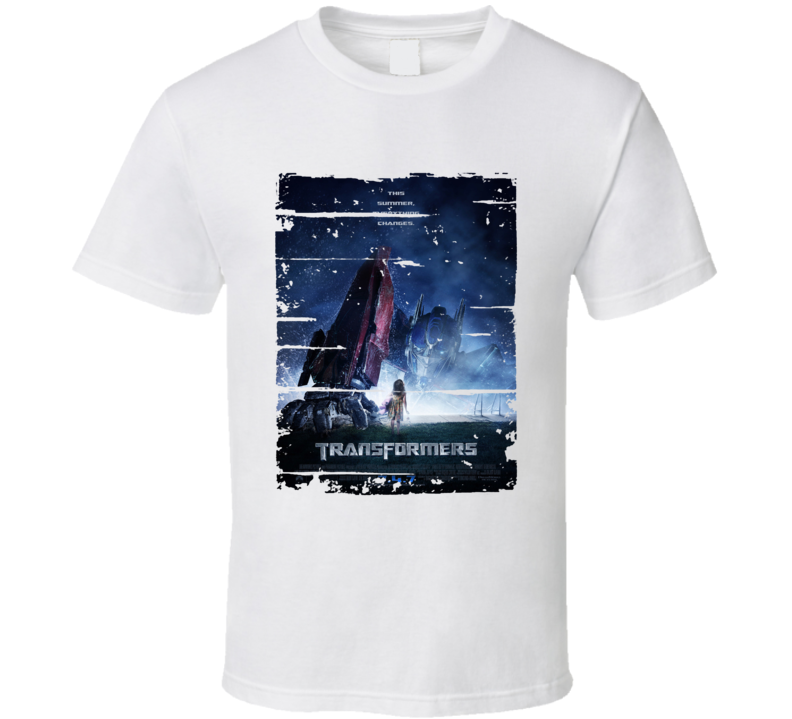 Transformers 2007 Trending Cool Movie Worn Look T Shirt