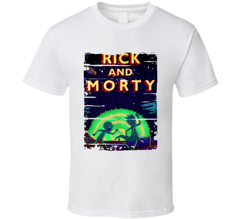 Rick And Morty The Multiverse Cool Trending Cartton Worn Look T Shirt
