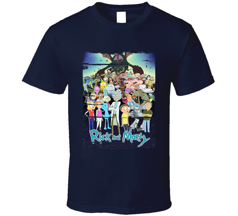 Rick And Morty Book 1 Cool Worn Look Cartoon Lover T Shirt