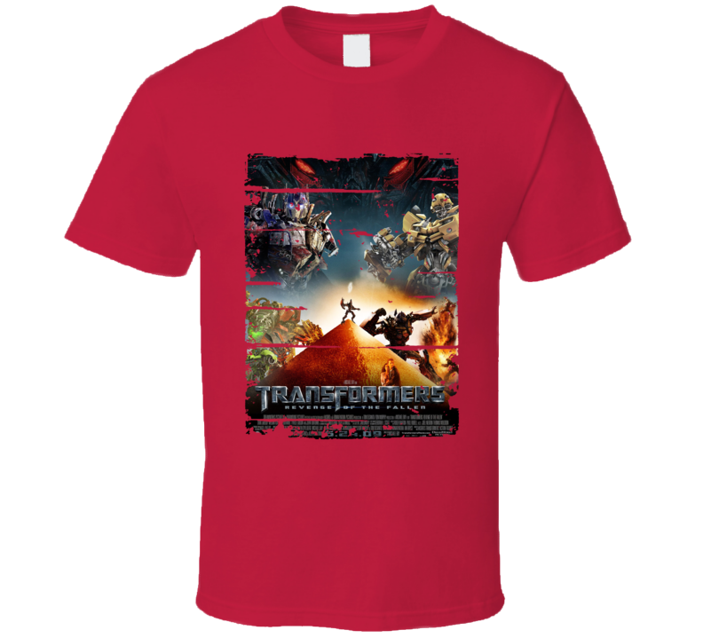 Transformers Revenge Of The Fallen Cool Trending Movie Worn Look T Shirt