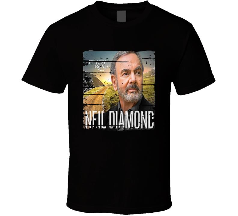 Neil Diamond Melody Road Worn Look Vintage Music T Shirt