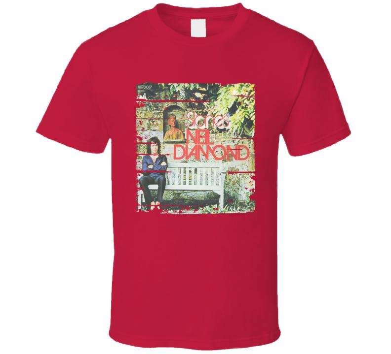 Neil Diamond Stones Worn Look Vintage Music T Shirt