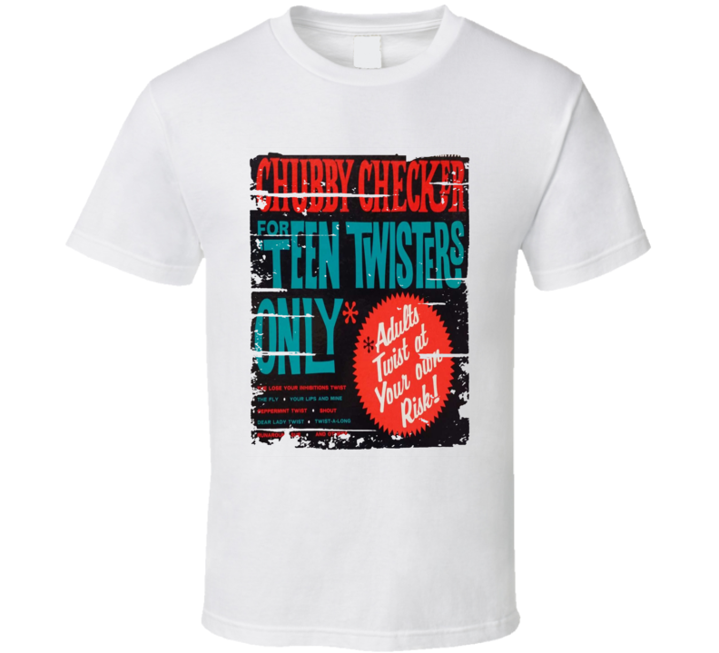 Chubby Checker For 'teen Twisters Only Worn Look Music T Shirt