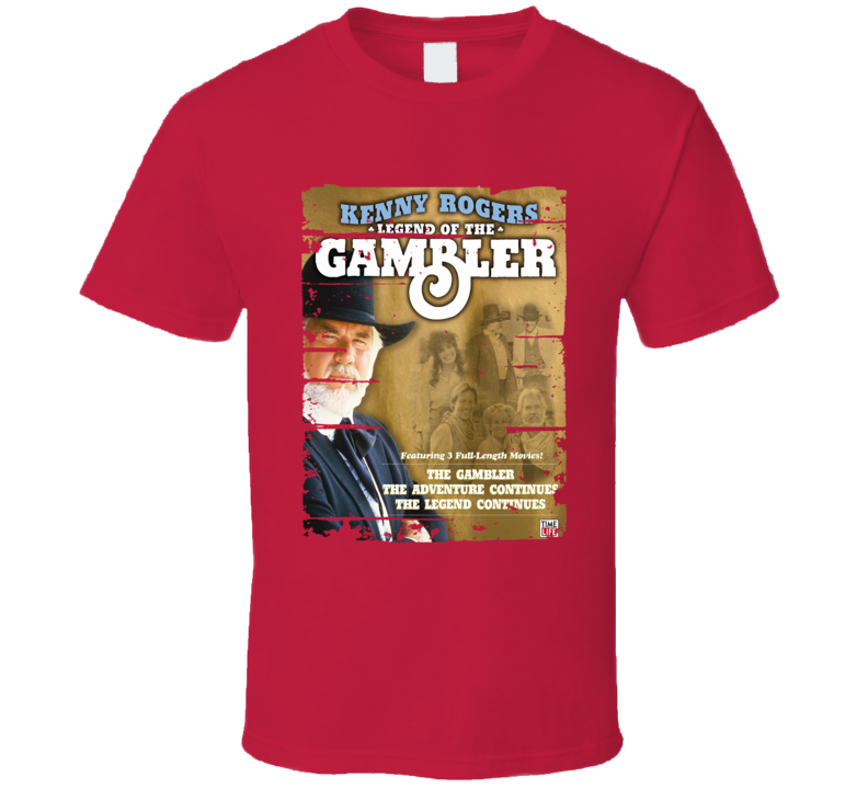 Kenny Rogers The Gambler Worn Look Cool Music T Shirt