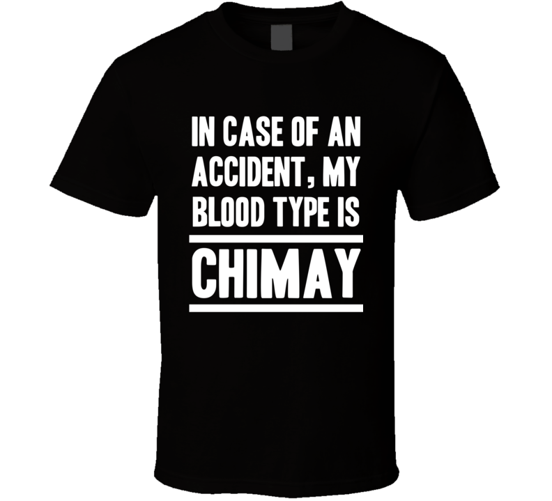 My Blood Type Is Chimay Beer Lover Funny Drinking T Shirt