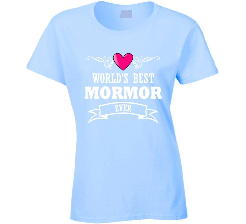 World's Best Mormor Mothers Day Gift Idea For Grand Mother T Shirt