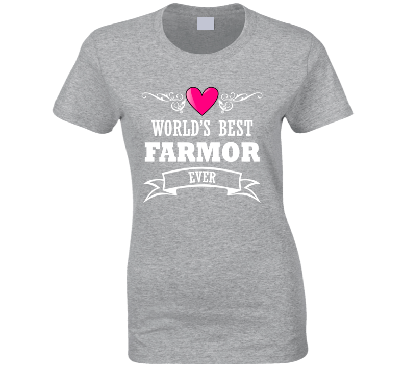World's Best Farmor Mothers Day Gift Idea For Grand Mother T Shirt