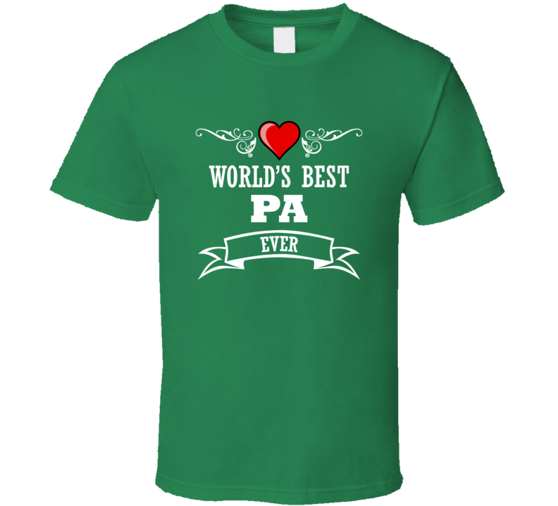 World's Best Pa Fathers Day Gift Idea Awesome  T Shirt