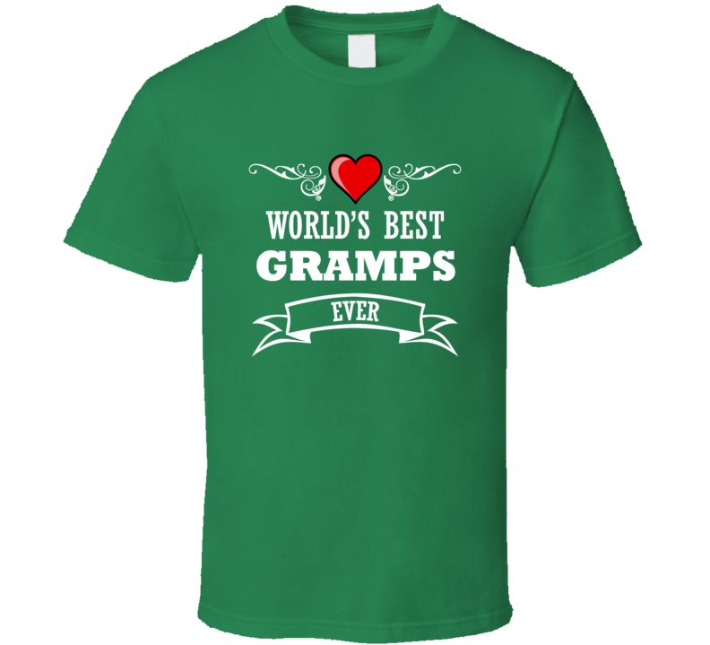 World's Best Gramps Fathers Day Gift Idea  For Grand Father T Shirt