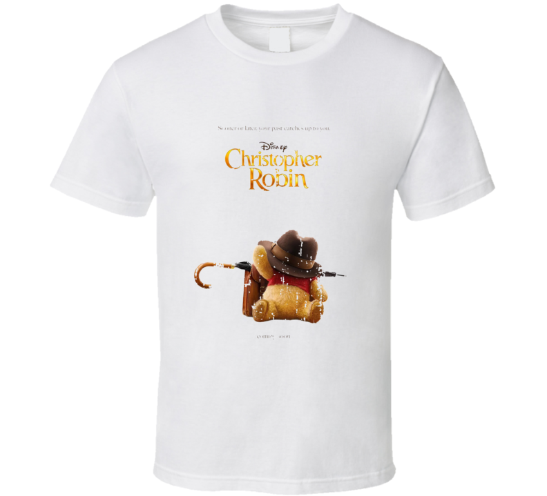 Christopher Robin 2018 Movie Poster Worn Look T Shirt