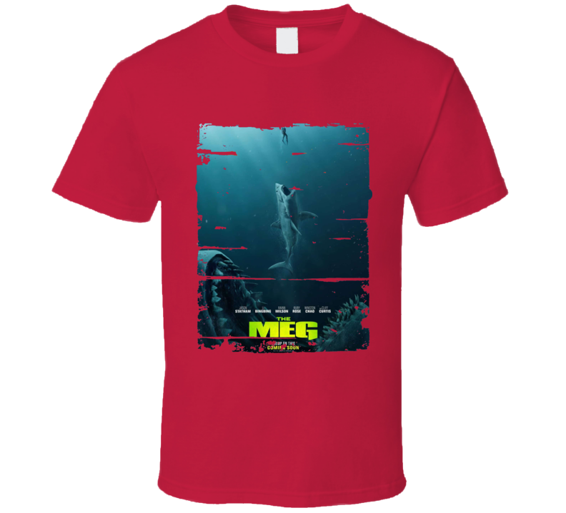 The Meg Jason Statham Shark Movie 2018  Worn Look T Shirt