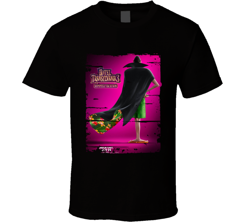 Hotel Transylvania 3 2018 Movie Cool Poster Worn Look T Shirt