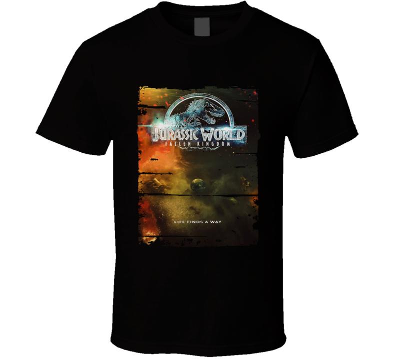 Jurassic World Fallen Kingdom 2018 Movie Poster T Shirt