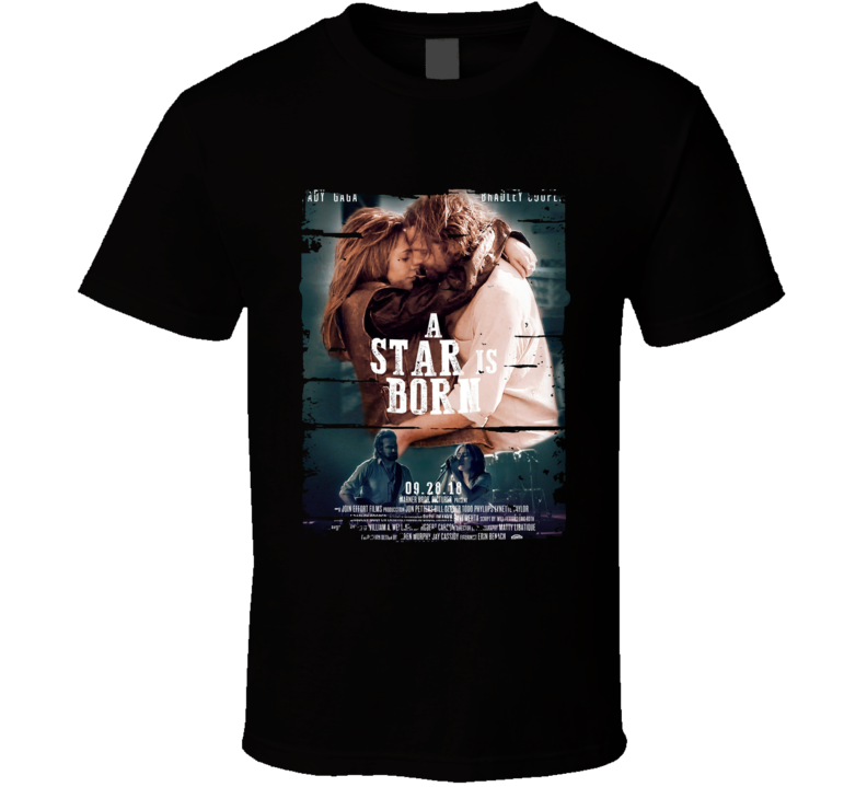 A Star Is Born Trendimg Movie Poster Worn Look T Shirt
