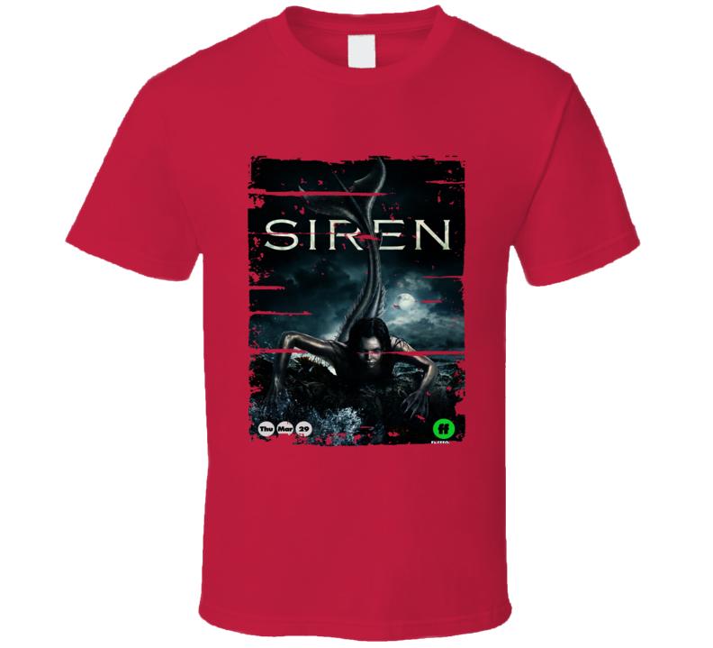 Siren Tv Show Poster Worn Look T Shirt
