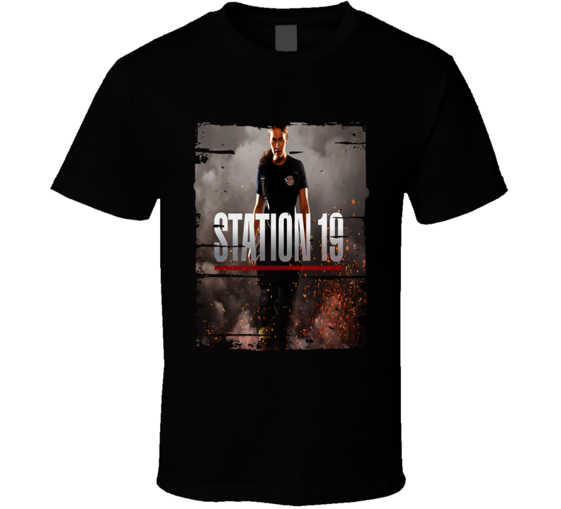 Station 19 Trending Tv Show Firefighter Series Worn Look T Shirt