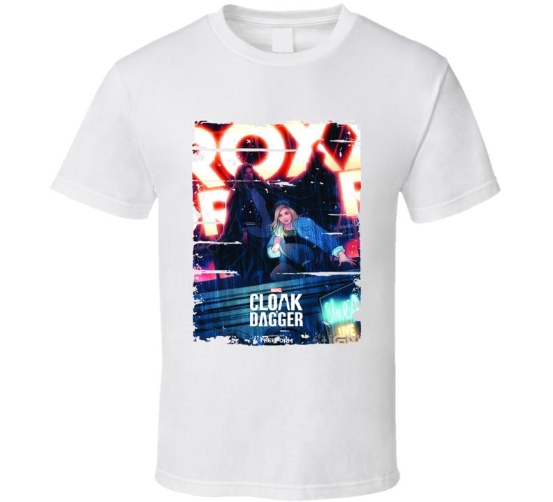 Cloak Dagger Tv Show Poster Worn Look Series T Shirt