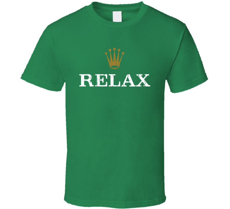 Relax Rolex Logo Parody Funny Worn Look T Shirt