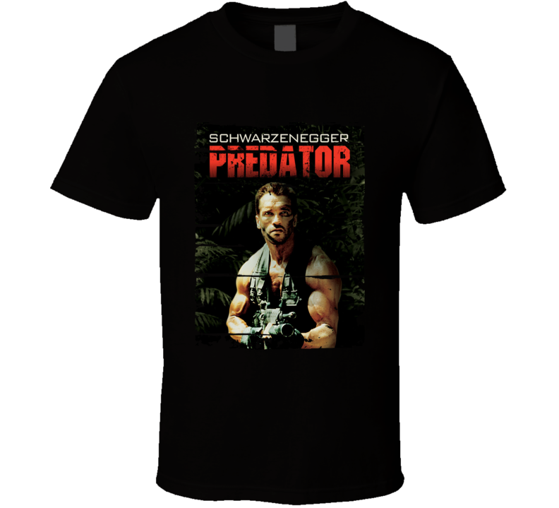 Predator Arnold Schwarzenegger Action Movie Worn Look Cool T Shirt