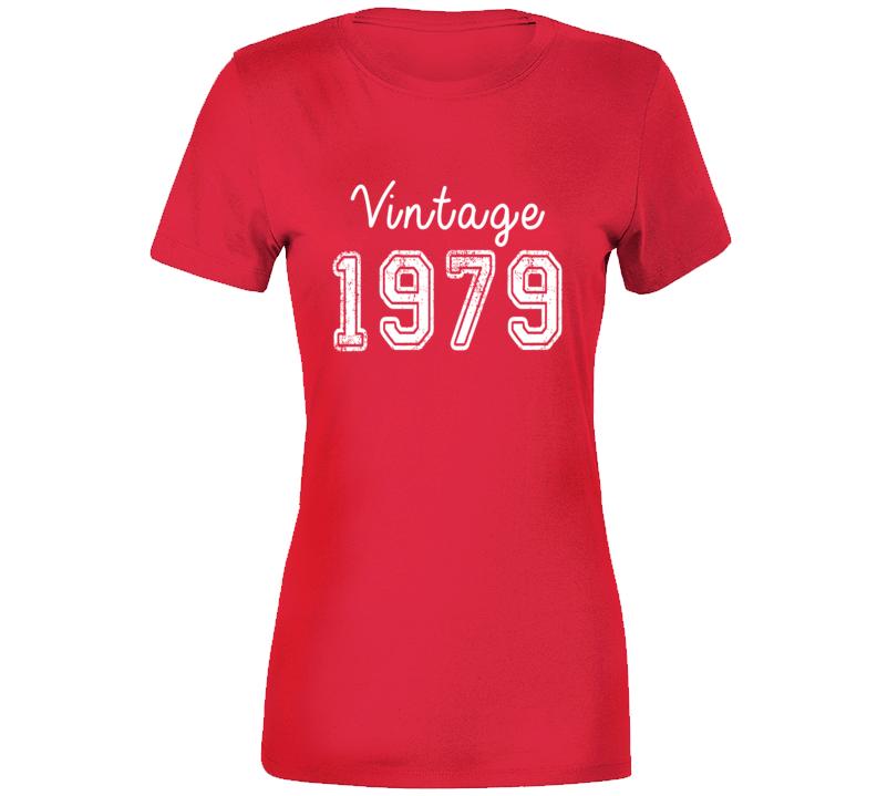 Vintage 1979 Cool Birthday Gift Retro Worn Look T Shirt