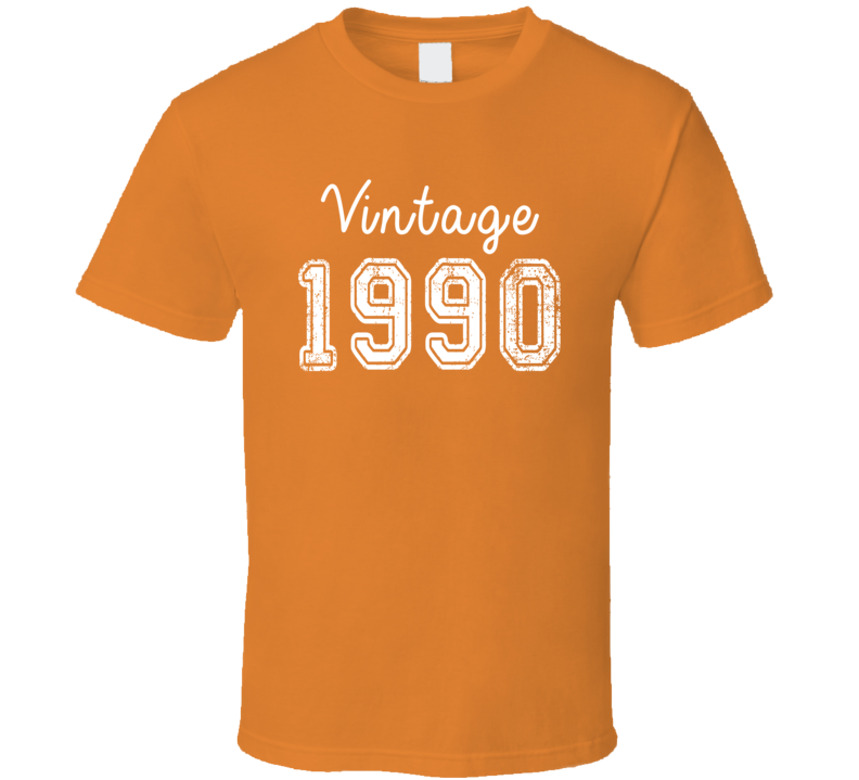 Vintage 1990 Cool Birthday Gift Retro Worn Look T Shirt
