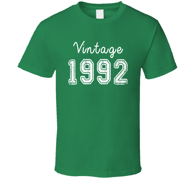 Vintage 1992 Cool Birthday Gift Retro Worn Look T Shirt