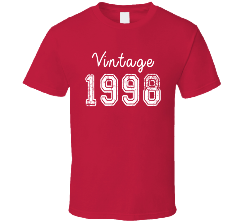 Vintage 1998 Cool Birthday Gift Retro Worn Look T Shirt