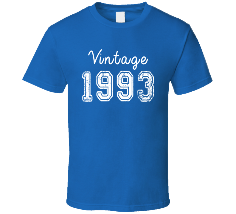 Vintage 1993 Cool Birthday Gift Retro Worn Look T Shirt