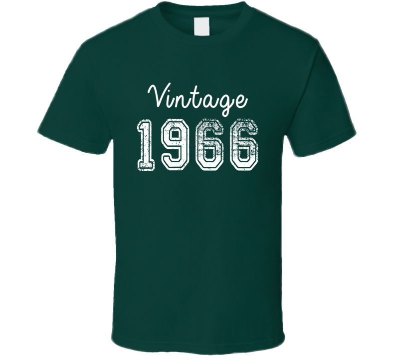 Vintage 1966 Cool Birthday Gift Retro Worn Look T Shirt