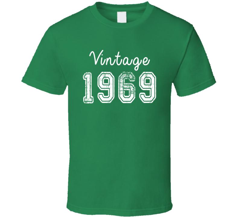Vintage 1969 Cool Birthday Gift Retro Worn Look T Shirt