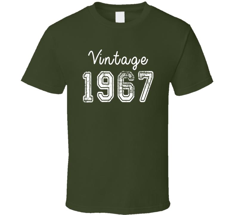 Vintage 1967 Cool Birthday Gift Retro Worn Look T Shirt