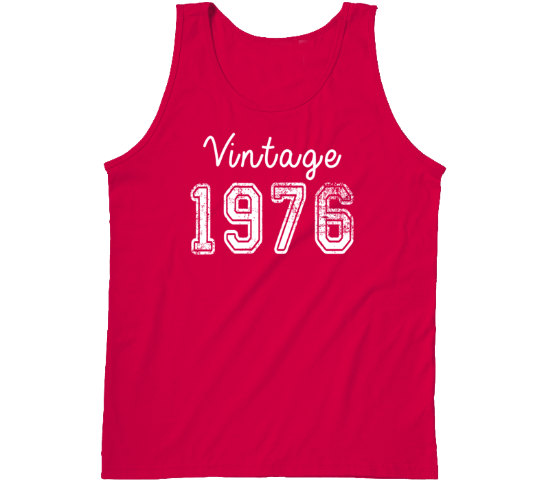 Vintage 1976 Cool Birthday Gift Retro Worn Look T Shirt