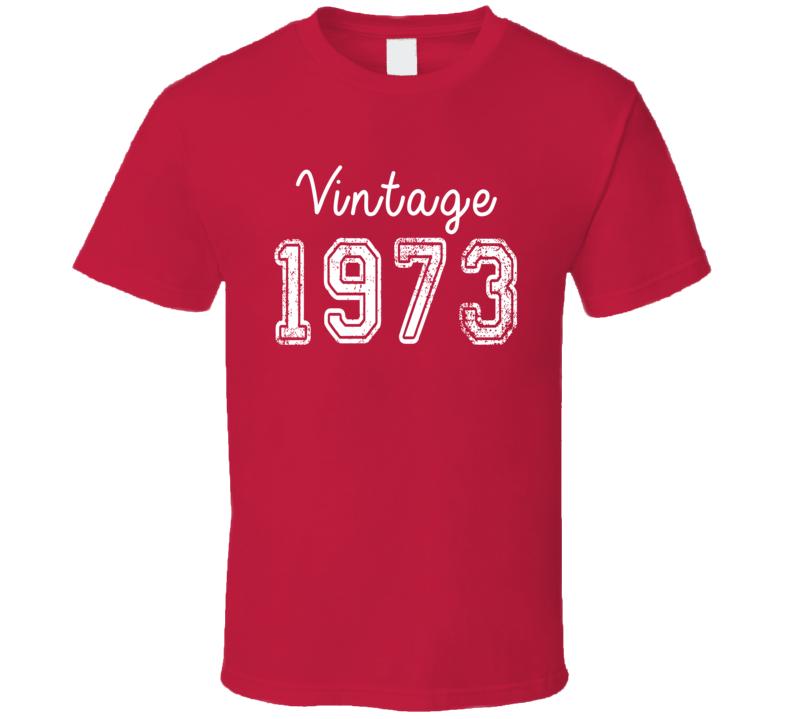 Vintage 1973 Cool Birthday Gift Retro Worn Look T Shirt