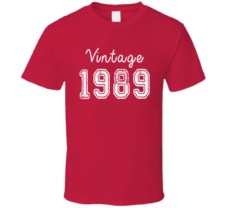 Vintage 1989 Cool Birthday Gift Retro Worn Look T Shirt