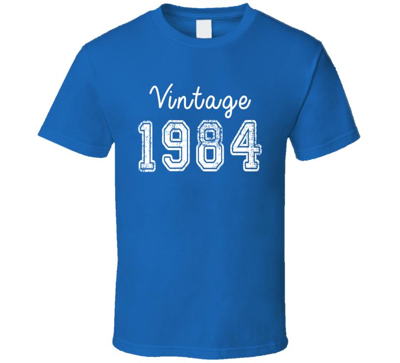 Vintage 1984 Cool Birthday Gift Retro Worn Look T Shirt