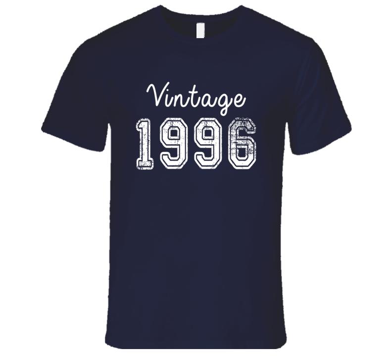 Vintage 1996 Cool Birthday Gift Retro Worn Look T Shirt