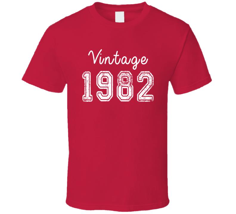 Vintage 1982 Cool Birthday Gift Retro Worn Look T Shirt