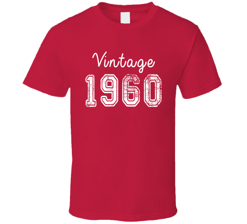 Vintage 1960 Cool Birthday Gift Retro Worn Look T Shirt