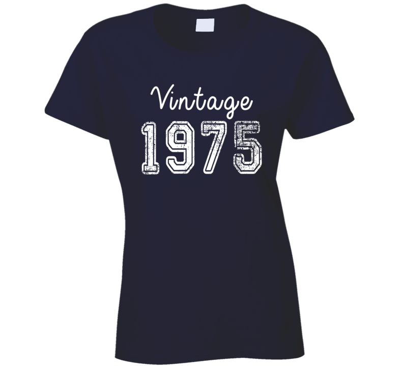 Vintage 1975 Cool Birthday Gift Retro Worn Look T Shirt
