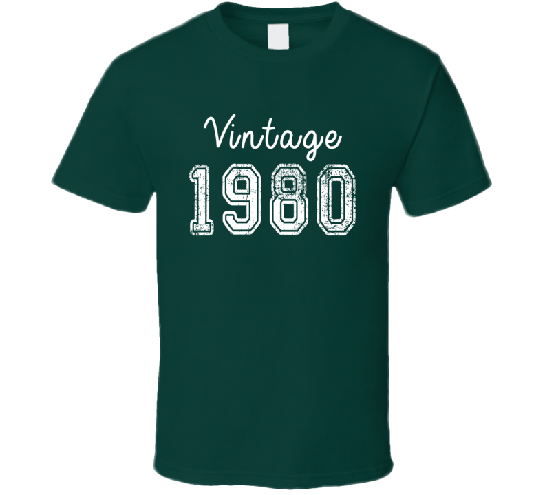 Vintage 1980 Cool Birthday Gift Retro Worn Look T Shirt