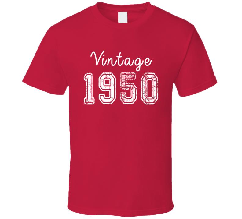 Vintage 1950 Cool Birthday Gift Retro Worn Look T Shirt
