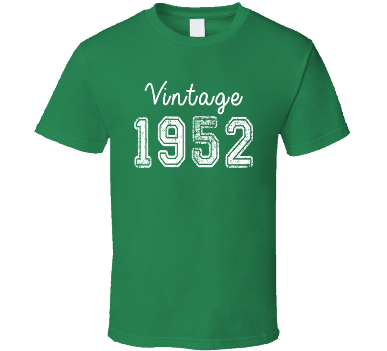 Vintage 1952 Cool Birthday Gift Retro Worn Look T Shirt