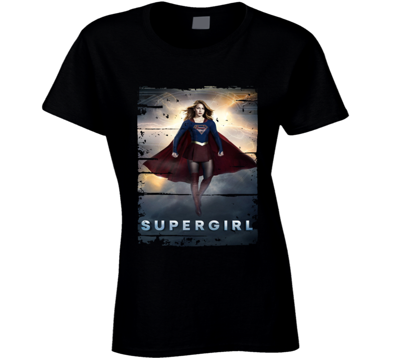 Supergirl  Tv Show Worn Look Science Fiction Series Ladies T Shirt