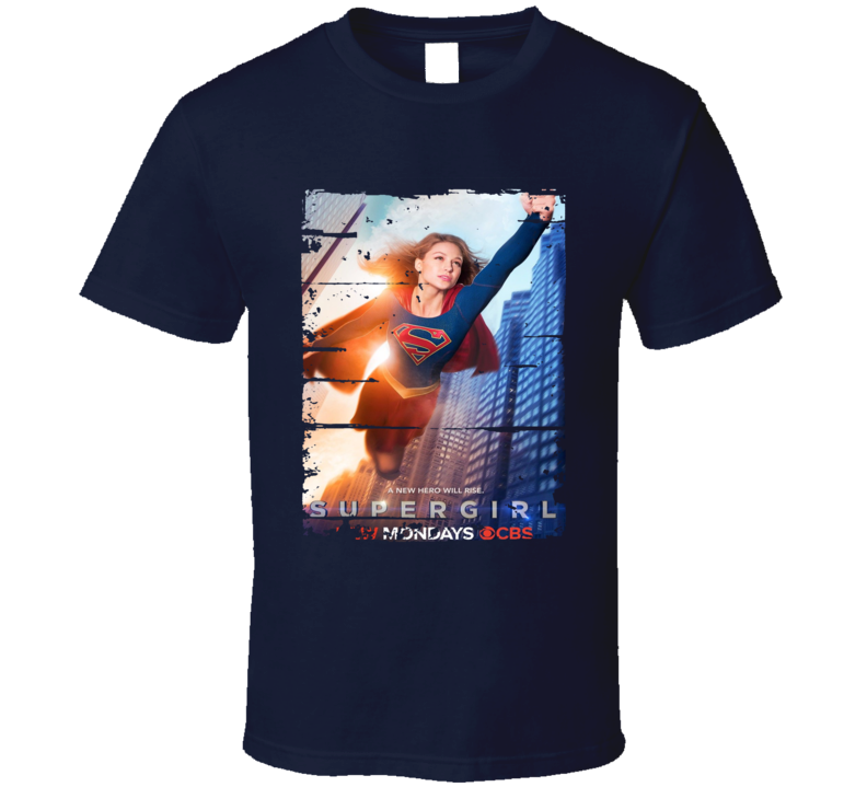 Supergirl Season 1 Tv Show Worn Look Science Fiction Series T Shirt
