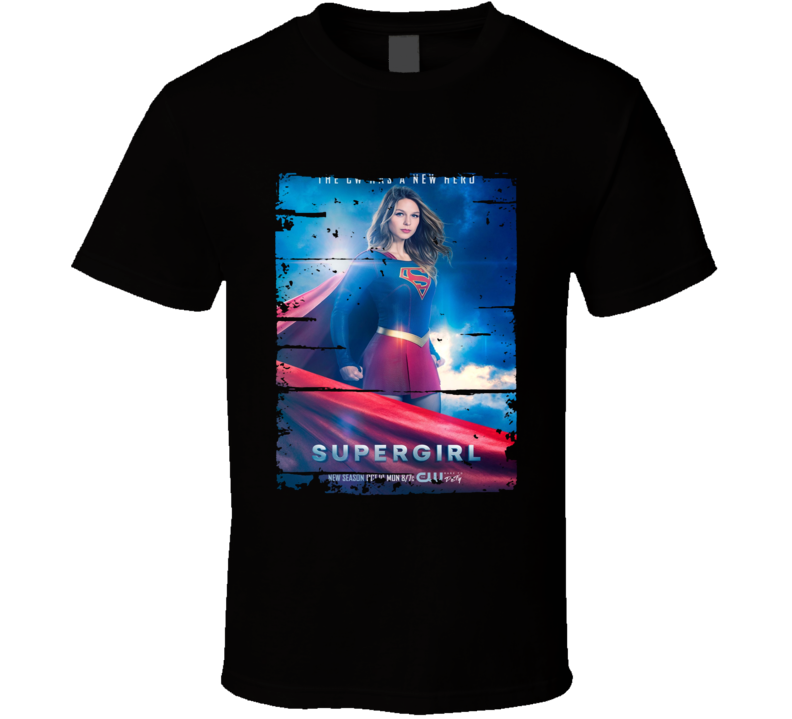 Supergirl Season 1 Tv Show Worn Look Science Fiction Cool T Shirt