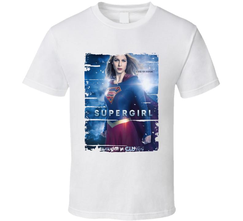Supergirl Season 2 Tv Show Worn Look Science Fiction Series T Shirt