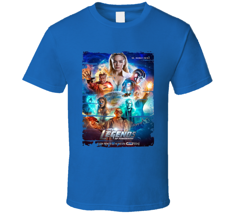 Legends Of Tomorrow Season 3 Tv Show Worn Look Drama Series T Shirt